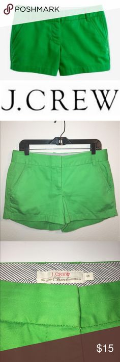 """J. Crew Broken-In Chino Green Shorts ✔️Beautiful Green Color ✔️3"""" Inseam ✔️100% Cotton ✔️No Holes, Stains or Damages J. Crew Shorts"""