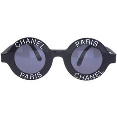 "VINTAGE CHANEL ""CHANEL PARIS"" LOGO FRAME SUNGLASSES ❤ liked on Polyvore featuring accessories, eyewear, sunglasses, chanel, chanel glasses, chanel eyewear, logo sunglasses and logo glasses"