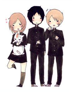 Taki, Tanuma and Natsume by ruuari @ tumblr