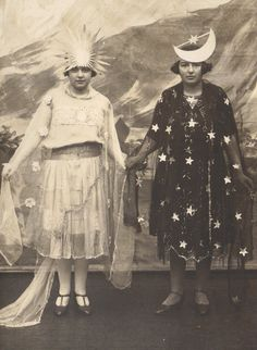 When the Sun and Moon were Young French RPPC circa by redpoulaine