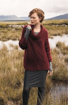 Love this look, but not the price or the mohair :)  Eileen Fisher Funnel Neck Mohair Blend Sweater   Nordstrom