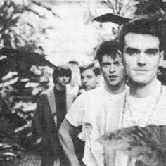 The Smiths at Kew Gardens, London, England ― photo by Derek Ridgers. The Smiths Morrissey, Johnny Marr, Little Charmers, I Love Him, My Love, Charming Man, Indie Pop, Alternative Music, My Soulmate