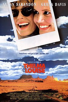 Thelma & Louise is a 1991 American road film directed by Ridley Scott and written by Callie Khouri. It stars Geena Davis as Thelma and Susan Sarandon as Louise, two friends who embark on a road trip with disastrous consequences. The supporting cast include Harvey Keitel, Michael Madsen, and Brad Pitt, whose career was launched by the film.