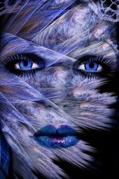 Fractal Woman Face, looks so beautiful Blue Magic, Photo D Art, Beautiful Blue Eyes, Photoshop, Portraits, Fractal Art, Face Art, My Favorite Color, Shades Of Blue