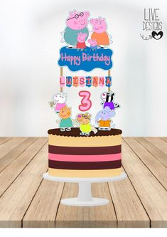 Pig Birthday, Birthday Parties, Peppa Pig Party Supplies, Peppa Pig Teddy, Barbie Party, Cake Toppers, Notes, Change, Free Shipping