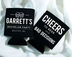 Custom Bachelor Party Can Coolers  are available at Boardman Printing. Order yours today!