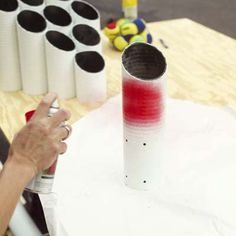 Backyard games DIY-Pipe Ball Game, kind if like skee ball!