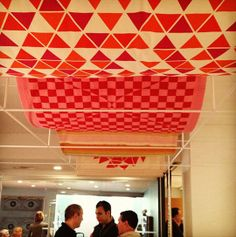 Alexander Girard- fabric draped ceiling