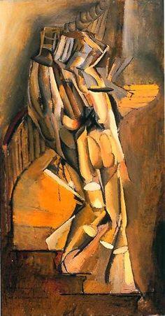 "Marcel Duchamp ""Nude Descending a Staircase No. 1"" (1911)"