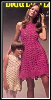 BIG & LITTLE DRESSES - Groovy Crochet.  These will make nice swimsuit cover-ups.  http://web.archive.org/web/20010831135834/http://www.cei.net/~vchisam/groovy/v-14.html#