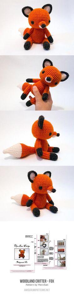 Amigurumi Lisa the Fox Pattern bambole,pupazzi e altro ...