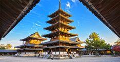 Pagoda di Horyu-ji | Prefettura di Nara (Giappone) Horyuji Temple, Wooden Architecture, Nara, Tower, Building, Travel, Google, Futuristic, Architecture