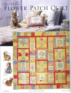 Flower patch bronwy - Veronica Ghernetti - Álbuns da web do Picasa Bee On Flower, Flower Patch, Red Brolly, Brollies, Crochet Magazine, Book Quilt, Patch Quilt, Quilting Designs, Embroidery Patterns