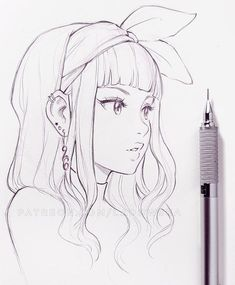 ☁︎┊ 𝙿𝚒𝚗𝚝𝚎𝚛𝚎𝚜𝚝: @ 𝚝𝚑𝚎𝚛𝚒𝚡𝚘… - Anime World 2020 Illustration Art Drawing, Art Drawings Sketches Simple, Pencil Art Drawings, Cartoon Drawings, Easy Drawings, Sketches Of Girls, Hipster Drawings, Anime Character Drawing, Manga Girl Drawing