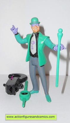 Kenner hasbro action figures for sale to buy Batman the animated series 1992 the RIDDLER 100% COMPLETE with all weapons/accessories and parts condition: excellent - displayed only Figure size: approx.