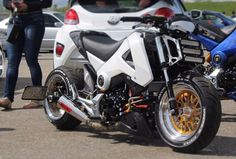 Grom Bike, Grom Motorcycle, Honda Grom Custom, Ultimate Garage, Honda Bikes, Biker Gear, Car Mods, Café Racers, Mini Bike