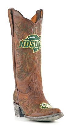 The North Dakota State University boots from Gameday Boots are the perfect footwear for a Bison tailgater, game or party. Wear these ladies NDSU boots with pride and show the world that you stand with