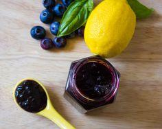 Blueberry Lemon Basil Jam | Canning and Preserving | #sundaysupper