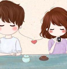 Love Cartoon Couple, Chibi Couple, Cute Love Cartoons, Cute Couple Art, Anime Love Couple, Cute Anime Couples, Cute Couple Wallpaper, Love Wallpaper, Relationship Drawings