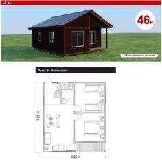 Plano de casa 42m2 planos de casa campo o playa - Casas de madera pequenas y baratas ...