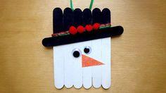 Popsicle Stick Snowman #Christmas Ornament