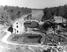 dionicio rodriguez sculptures | North Little Rock: Old Mill - Encyclopedia of Arkansas