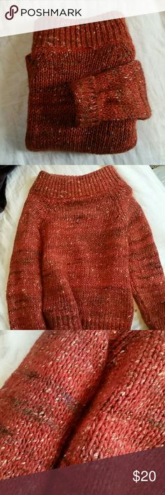 Cozy Sweater from Anthropologie Burnt orange colored sweater with accents of various fall tones. Warm and cozy and perfect for autumn and winter! Like new condition. Bundle to save 🍂🍁 Anthropologie Sweaters