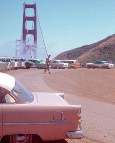 Golden Gate Bridge San Francisco 1950s. https://t.co/gs3ocbPSgU