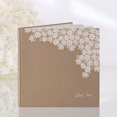 Gæstebog til Bryllup og konfirmation med blomstertryk