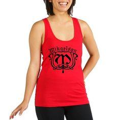 Mikaelson Original Vampire Diaries Racerback Tank Top - For fans of The Vampire Diaries and the Mikaelson vampire siblings (Niklaus, Elijah, Rebekah, Finn, Kol, and Freya) known as The Originals, this design has an ornate monogram M.