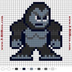 Gorilla Grodd Flash Perler Bead Pattern