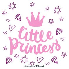 Lettering quote with princess style Free. Art Drawings For Kids, Cute Animal Drawings, Princess Letras, Princess Style, Little Princess, Back To School Displays, Disney Princess Room, Mom Quotes From Daughter, Doodle Girl