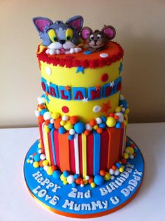 Tom & Jerry cake by Cakes by Lea, via Flickr