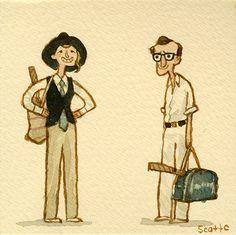 """GREAT SHOWDOWNS by scott c., """"La-di-da, la-di-da, la la."""" DAY 1 of Woody Allen..."""
