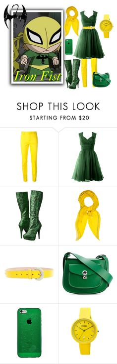 """""""Iron Fist Inspired Outfit"""" by wannabefamous212 ❤ liked on Polyvore featuring Iron Fist, Dsquared2, Funtasma, Hermès, D&G, Marni, Crayo, Inspired, marvel and ironfist"""