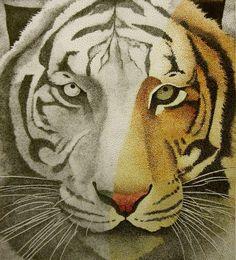 Tiger Stipple by CuriousGeorge43545.deviantart.com on @deviantART