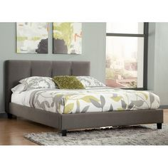 Ashley Signature Design Masterton King Upholstered Platform Bed with Channel Tufted Headboard