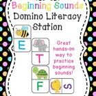 Beginning Sounds Domino Literacy Station