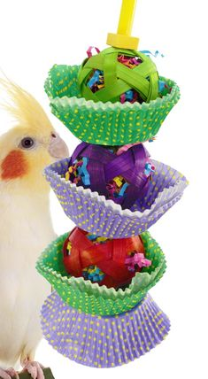 The 1084 3 Cane Cake from Bonka Bird Toys is a colorful chewing fun hanging toy for your medium sized feathered friend! This bird toy comes complete with a quick link. Diy Parrot Toys, Diy Bird Toys, Parakeet Toys, Diy Cockatiel Toys, Diy Chinchilla Toys, Homemade Bird Toys, Rat Toys, Pet Rats, Pet Mice