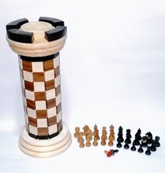 Chess Pieces wood+magnetic and Rock box Chess Boxing, Rock Box, Chess Pieces, Travel Mug, Magnets, Mugs, Tableware, Wood, Dinnerware