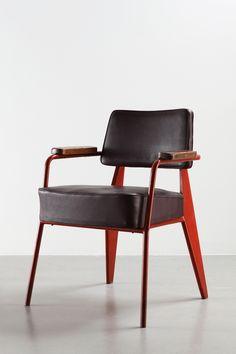 office chair | Jean Prouvé, Direzione N° 352 sedia da ufficio, 1951.