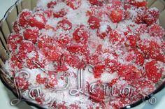 Fructe congelate cu zahar - Pas 3 Raspberry, Food, Canning, Essen, Meals, Raspberries, Yemek, Eten