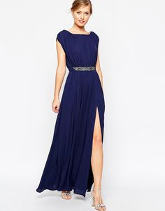 the Embellished Waist Maxi Dress is now my winter wonderland