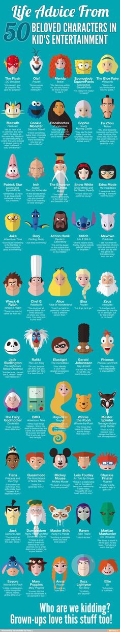 Life Advice from 50 Beloved Characters in Kids' Entertainment