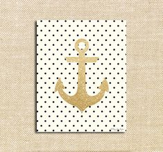 Gold Glitter  Anchor Printable Art | Inspirational Typography | Polkadot Print for Wall Decor DIY Decoration or Gift | Happy Valentines Day