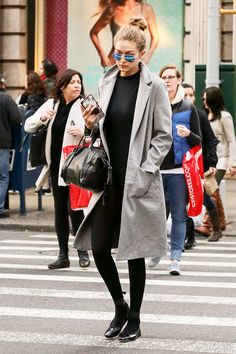What Gigi Hadid Wears After Ballet Class via @WhoWhatWear