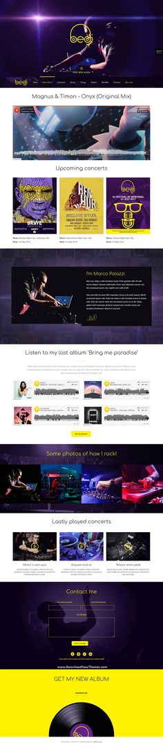 BeTheme is a clean, stylish and modern design responsive multipurpose WordPress theme that helps you build any type of website in a few hours. It comes with 500+ pre-built niche homepage layouts. Save time and money to download now & live preview click on image 👆 DJ DJmusic music musician singer band nightclub DJwebsitedesign DJwebsitetheme websitedesign websitetemplate websitelayout uidesign uxdesign