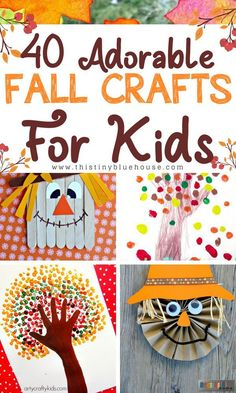 35 Crazy Easy Fall Inspired Crafts For Kids! Get creative with these adorable and super easy fall inspired crafts for kids! The post 40 Crazy Easy Creative Fall Inspired Crafts For Kids appeared first on Easy Crafts. Thanksgiving Crafts, Halloween Crafts For Kids, Holiday Crafts, Fall Crafts For Preschoolers, Fall Toddler Crafts, Preschool Fall Crafts, Autumn Crafts For Kids, Crafts For Babies, Arts And Crafts For Kids Toddlers