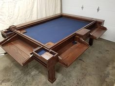 The Algenon Game Table image 1 Board Game Table, Table Games, Game Tables, Board Games, Pool Tables, The Plan, Gaming Table Diy, Dnd Table, Red Mahogany Stain