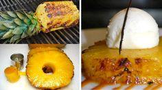 glace vanille ananas roti